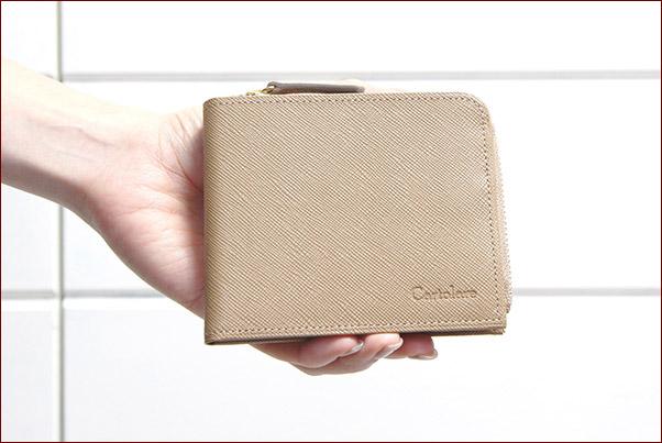 fa258bef1db2 L字ファスナー本革二つ折り財布「ジャミーウォレット」レディース